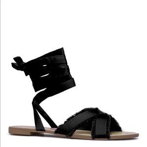 Shoe Dazzle Lace up Sandals